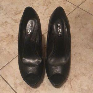 Aldo black Wedges Heels